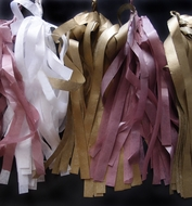 Tissue Paper Tassel Garland Kit - Golden Party (Gold, White, Light Rose)