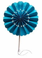 "8"" Turquoise Pinwheel Paper Hand Fans (10 PACK) (Discontinued)"