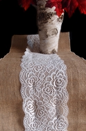 Vintage Burlap and Lace Style No.1 Table Runner (12 x 108)