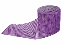 BLOWOUT Violet Diamond Bling Wrap Roll - 30 FT