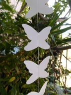 White Butterfly Garland