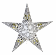 "24"" White Galaxy Paper Star Lantern, Hanging Decoration"