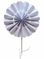 "BLOWOUT 8"" White Pinwheel Paper Hand Fans (10 PACK)"