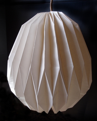 White Walnut Shaped Paper Shade