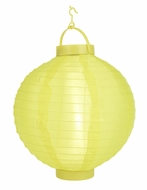 Yellow LED Round Nylon Battery Lantern