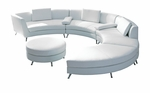 2-in-1 White Modular Sectional Sofa with Optional Ottoman (Commercial Grade)