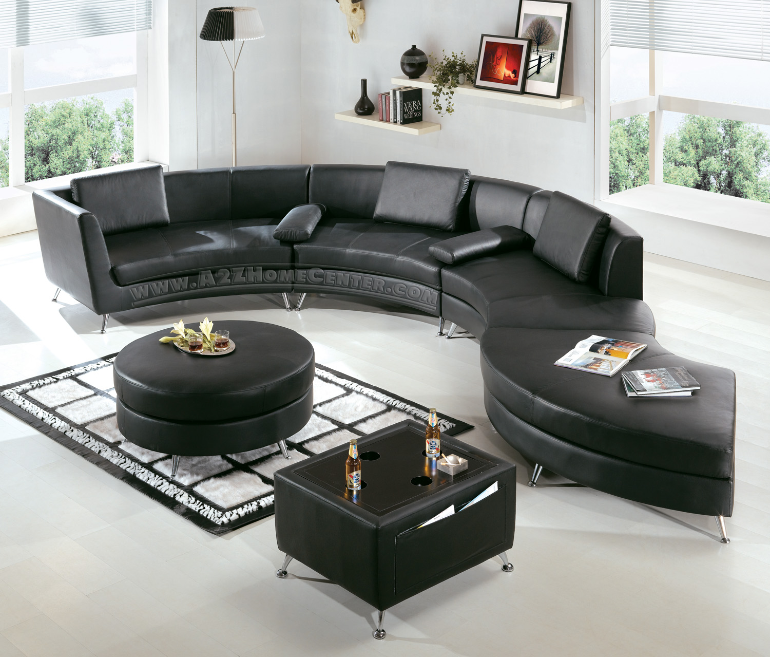 Modern Line Furniture - Commercial Furniture - Custom Made Furniture |  Seating Collection | | | 2-in-1 Modern Furniture Black Sectional Sofa  (Optional ...