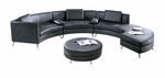 2-in-1 Black Modular Sectional Sofa with Optional Ottoman (Commercial Grade)