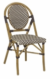 All-Weather Bamboo Style Modern Outdoor Chair - STACKING