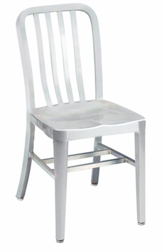 All-Weather Brushed Aluminum Restaurant Chair (Commercial Grade)