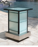 All-Weather Collection Black Powder Coated Metal Frame Corner