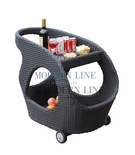 All-Weather Contemporary Outdoor Beverage Cart
