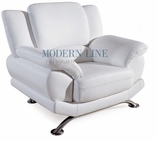 Beautiful Contemporary White Leather Chair