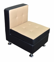 Liquidation! Black and Cappuccino Armless Chair