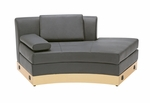 Black Open Chaise with Custom Kick Panel - Commercial Grade