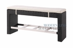 Black Wicker - All-Weather Collection - Bar Bench