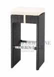 Black Wicker - All-Weather Collection- Bar Chair