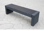 Black Wicker - All-Weather Collection - Bench