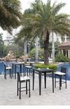 Wicker - All-Weather Collection- Two Bar Tables with Four Bar Stools