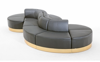 Black with Custom Kick Panel - Seating Arrangement G14