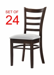 BULK DEAL! Expertly Reinforced Commercial-Grade WHITE Restaurant Chair w/ Solid Beech Wood Frame (SET OF 24)