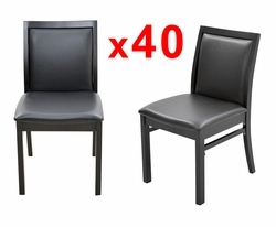 BULK DEAL! Leisure Restaurant Chairs with Black Frame Finish (SET OF 40)