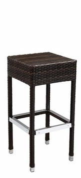 Commercial-Grade Outdoor Bar Stool (Espresso)