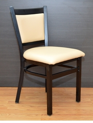 Commercial Grade - Sand Upholstery - Metal Restaurant Chair