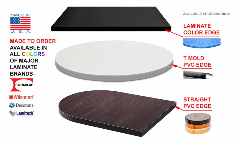 Commercial Grade   High Quality Laminate Table Top   Proudly Made In USA