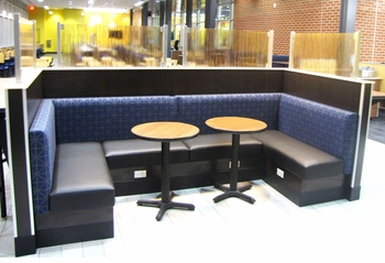 U Shape Booth And Tables (Made In USA)   Restaurant Complete Interior  Solution