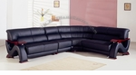 Contemporary Black Leather Exclusive Sectional Sofa