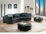 Contemporary Black Left Chaise w/ Extension, Ottoman and Coffee Table