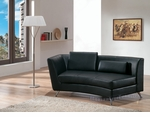 Contemporary Black Left-Sided Curved Chaise