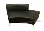 Contemporary Black Open Back Curved Chaise