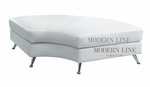 Contemporary White Curved Mini Chaise