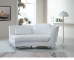 Contemporary White Right-Sided Curved Chaise