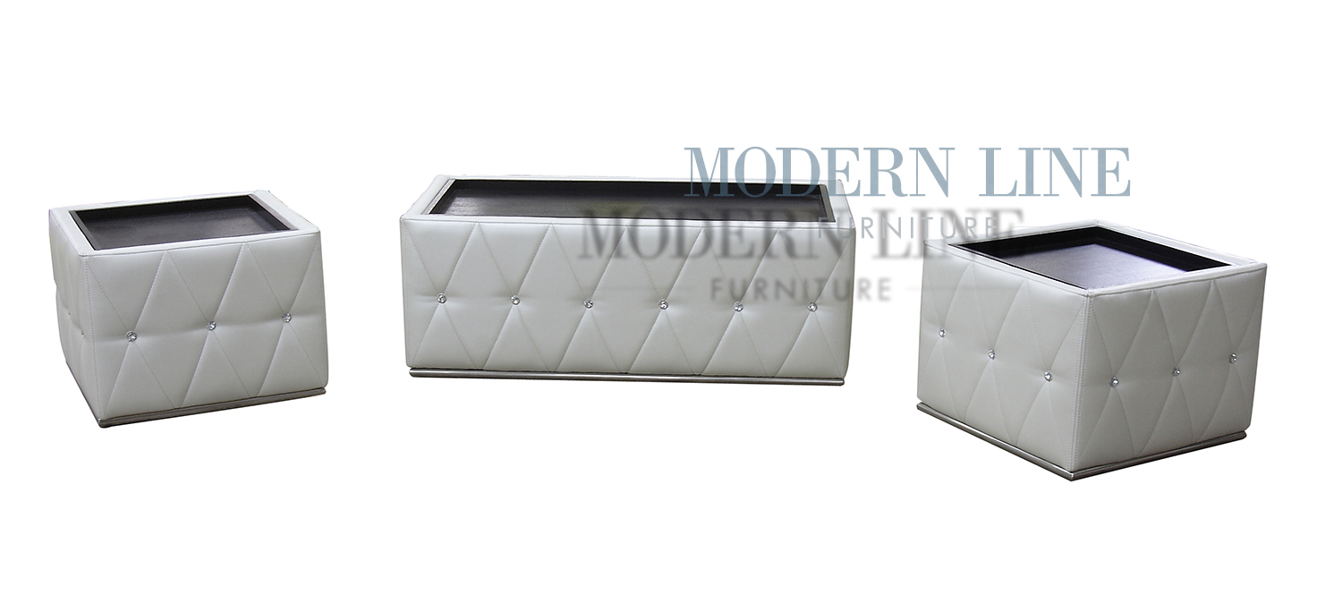 White Coffee Table And End Tables Modern Line Furniture Commercial Furniture Custom Made