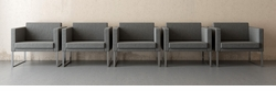 EXCLUSIVE! Grey Lobby Reception Chair (Commercial Grade) SET OF FIVE!