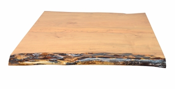 Exclusive Live-Edge Maple Slab Restaurant Table Top (Bark Epoxy Protection)
