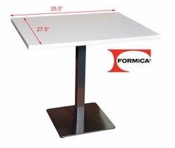 Formica� White Restaurant Table - 27.5in by 35.5in