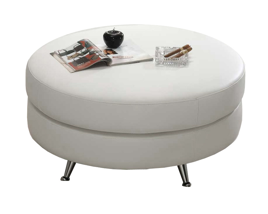large contemporary white leather ottoman table extra pouf tray tables