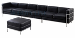 Le Corbusier Style - Extended Large Sofa (Optional Ottoman)