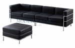 Le Corbusier Style - Large Sofa with Ottoman Set