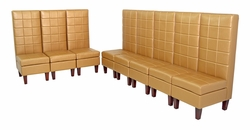 Liquidation - Set of EIGHT Tall Armless Chairs in Gold (BRAND NEW!)