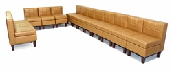 Liquidation - Set of FOURTEEN Armless Chairs in Gold (BRAND NEW!)