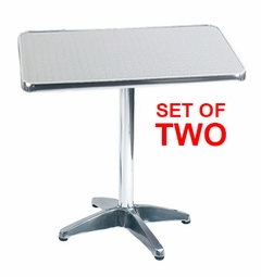 Liquidation! Aluminum Swirl 36in Square Top Restaurant Table (Commercial Grade - Indoor & Outdoor Ready) SET OF TWO