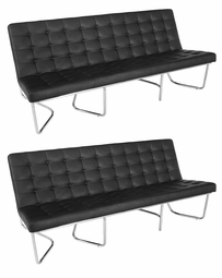 Liquidation! Black Tufted Design Set of TWO Sofas