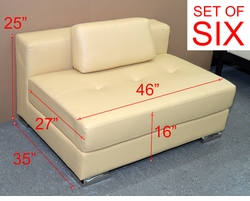 Liquidation! Brand New! SET OF SIX Modern Yellow Benches with Pillows