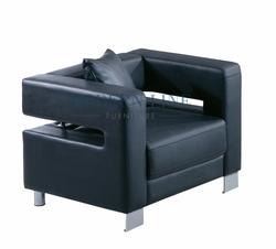 LIQUIDATION! Commercial-Grade Upholstery - Black Modern Chair (ONLY 1 LEFT)