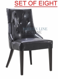 Liquidation! Modern Tufted Black Restaurant Chair (SET OF EIGHT)